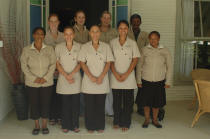 Staff at 5 mountains lodge and spa